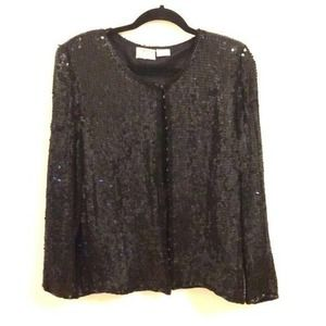 Stenay Vintage Black sequins jacket XL Like NEW